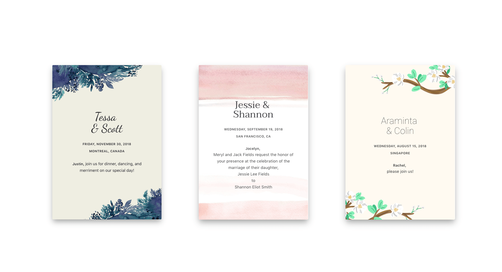 Modern Wedding Invitation Wording Examples - Joy