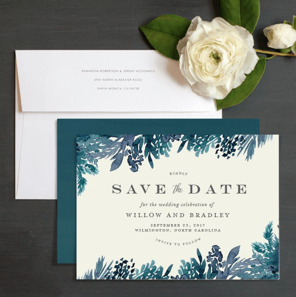 online save the dates with matching prints