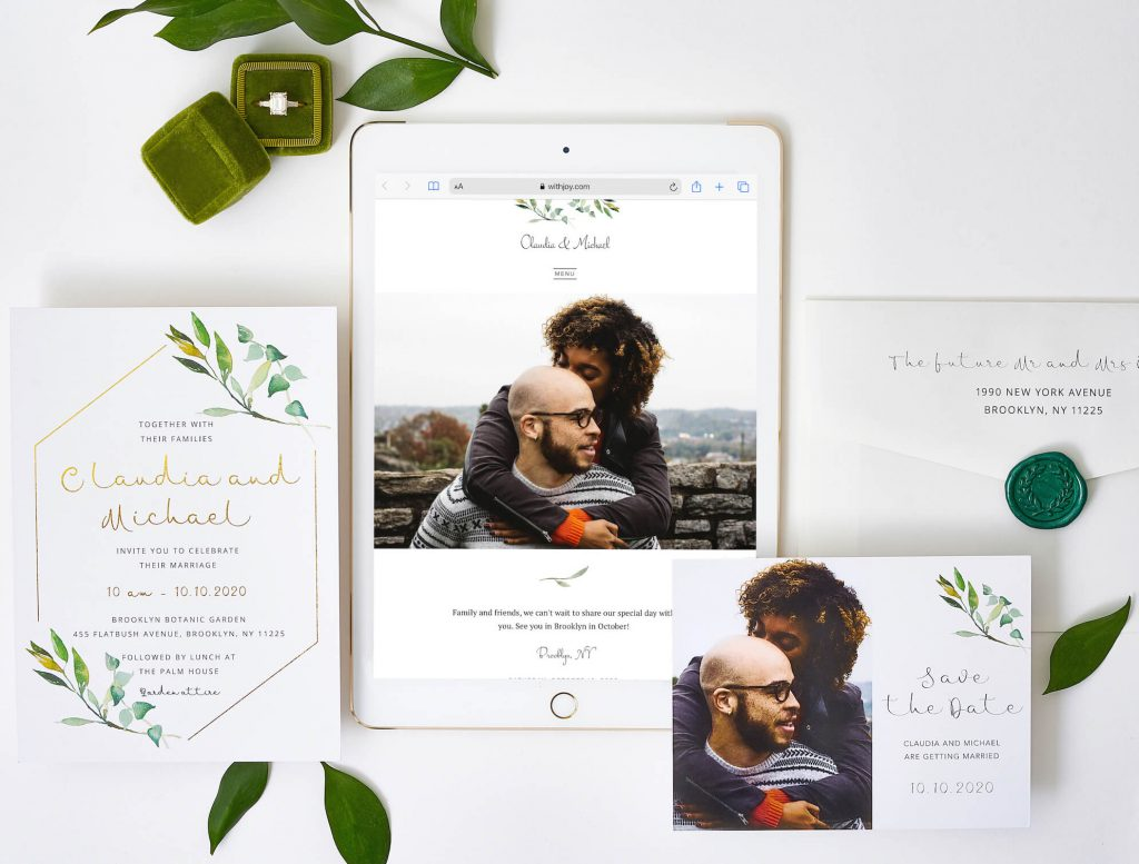 Wedding Invitations with matching website