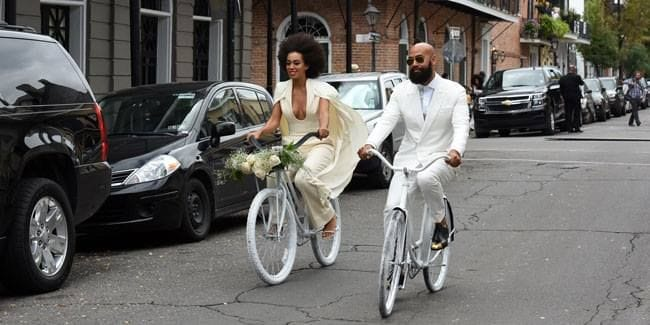 Solange Knowles' beautiful white wedding