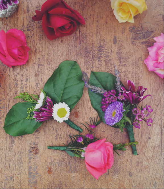 Materials for a DIY flower crown