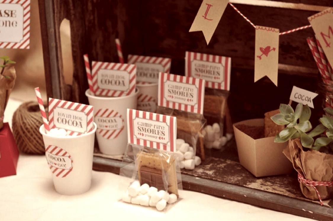 hot cocoa wedding favor