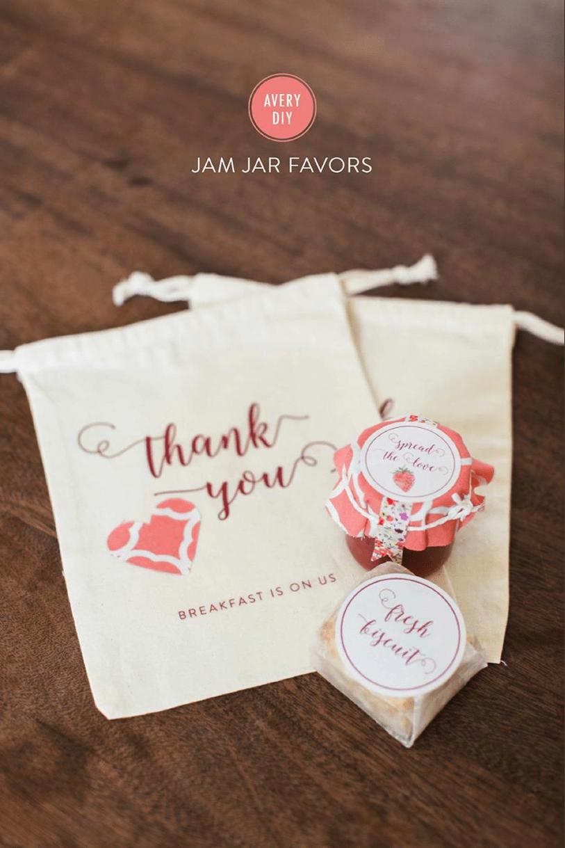 jam and biscuit wedding favor