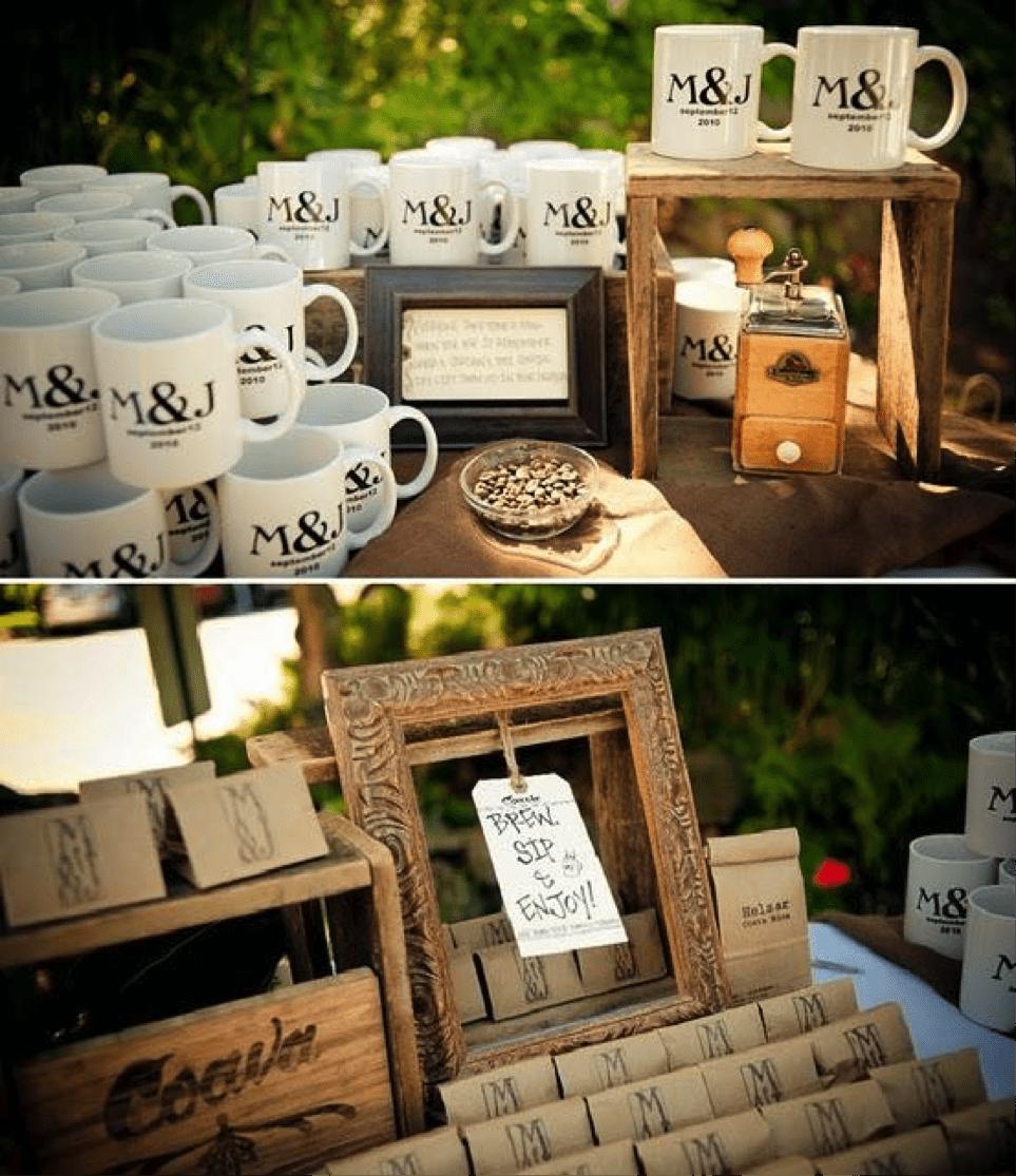 Coffee mug wedding favor