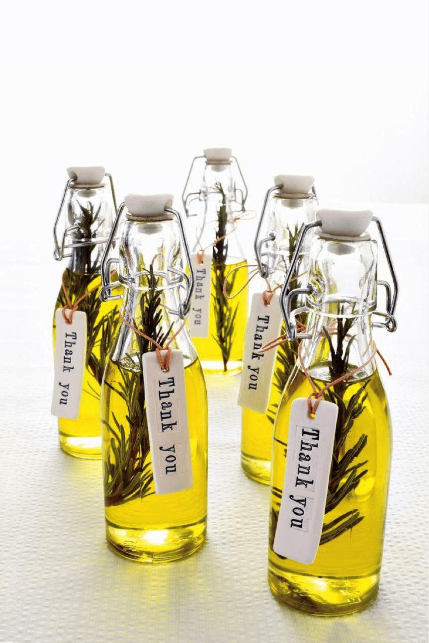 infused olive oil wedding favor