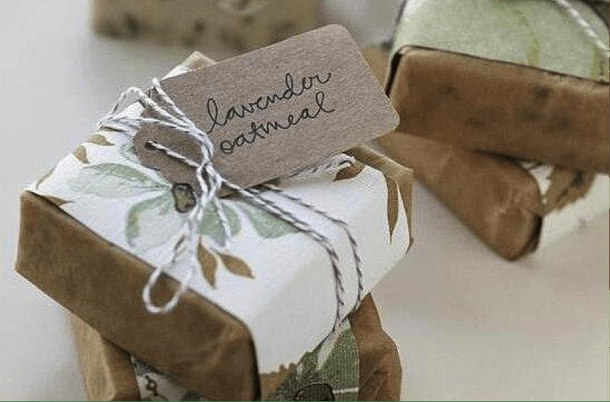 DIY soap wedding favor