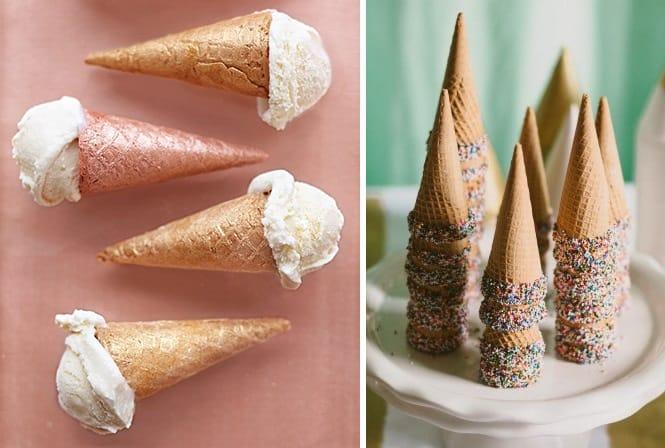 wedding ice cream cones