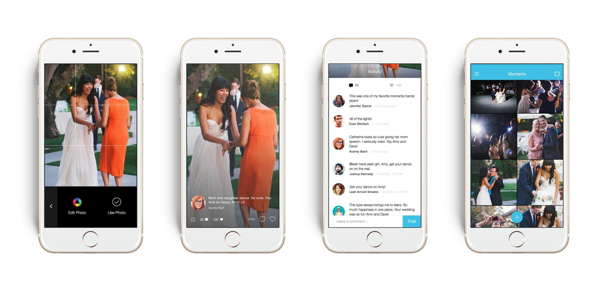joy the wedding app moments