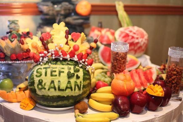 wedding fruit bar