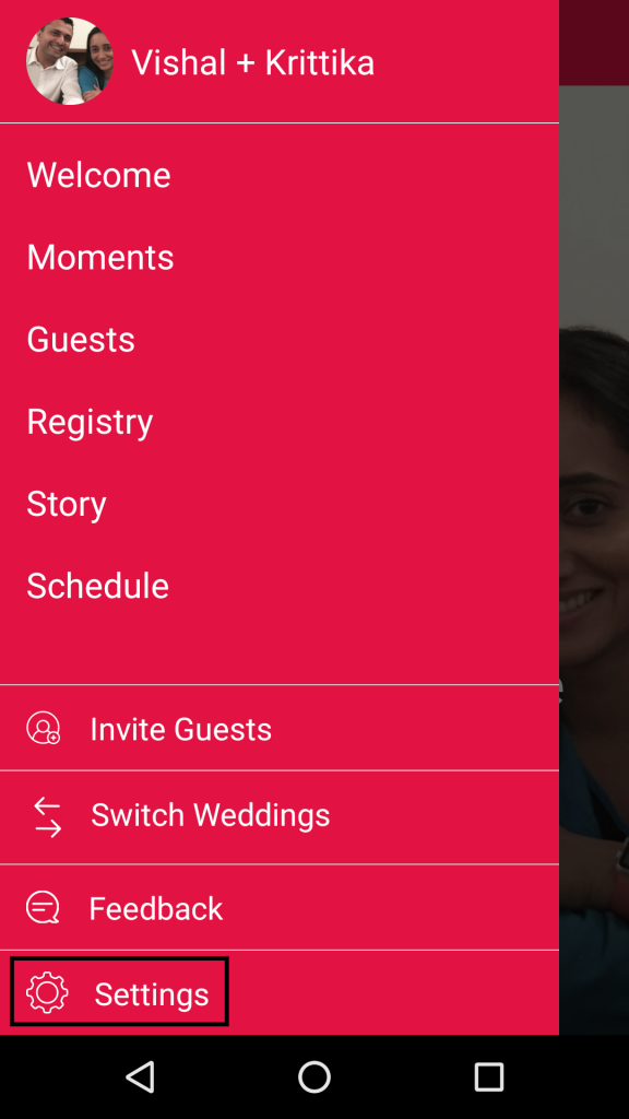 create a profile on android