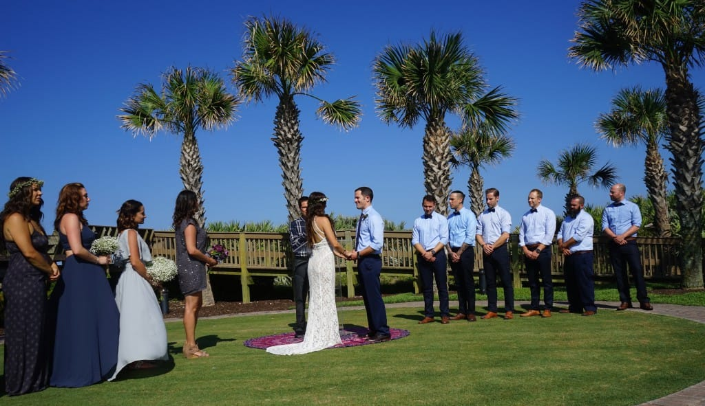 Florida boho wedding party