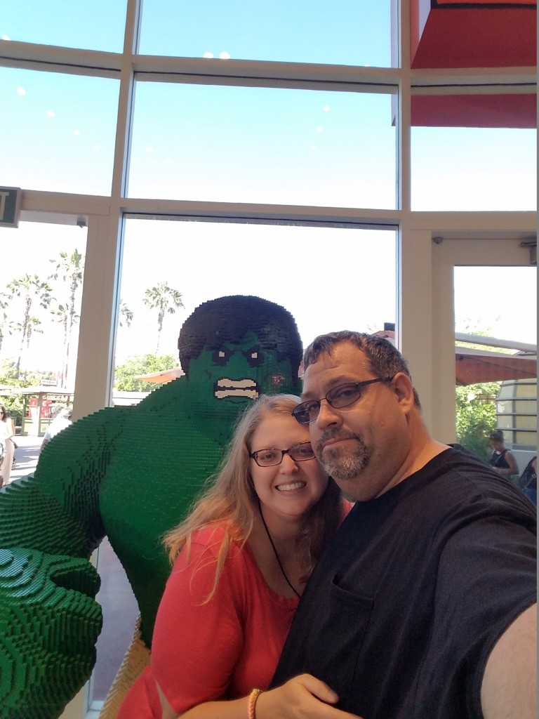 Hulk and my Hunk. Downtown Disney is one of the places we like to go to walk around and just enjoy being out.