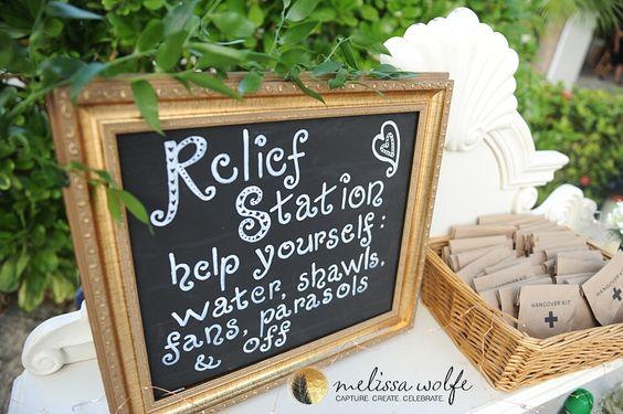 relief station outdoor summer wedding ideas