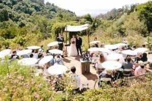 rustic wedding venue garden