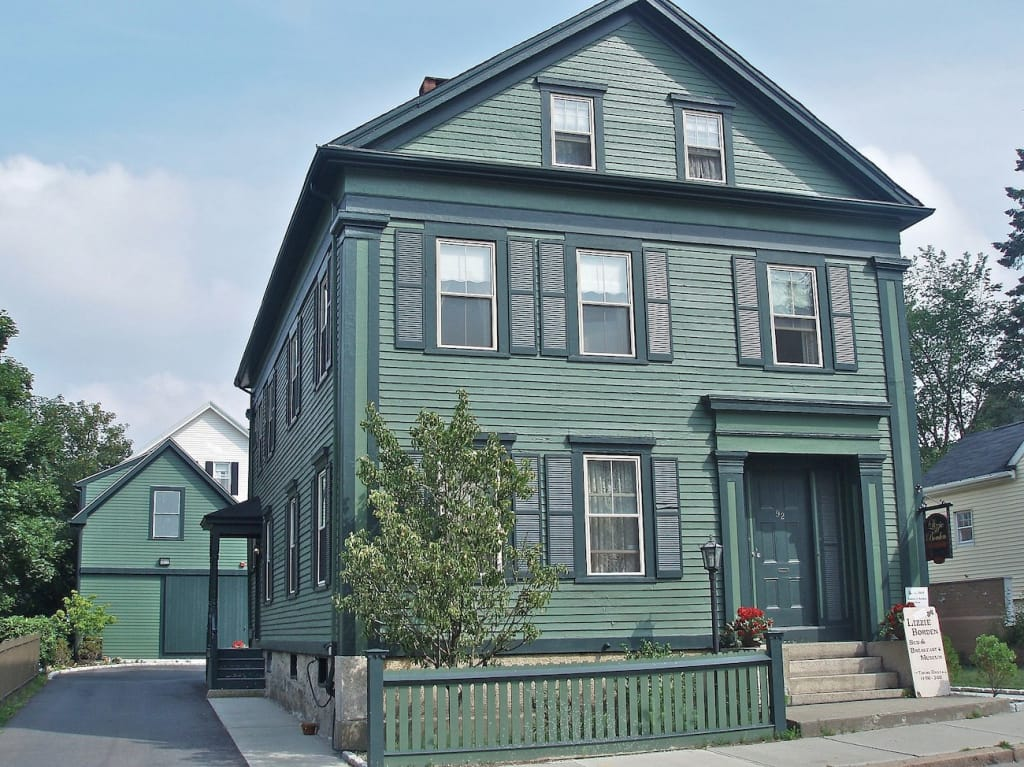 exterior of lizzie borden bed and breakfast museum