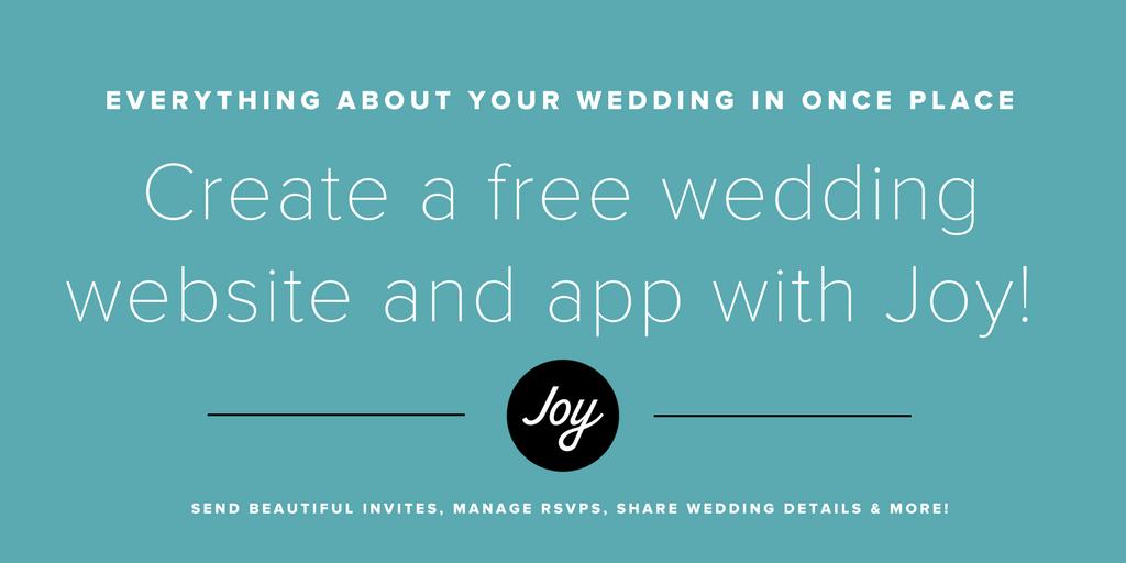 Joy - Wedding Website, Guest List, Invitations & More