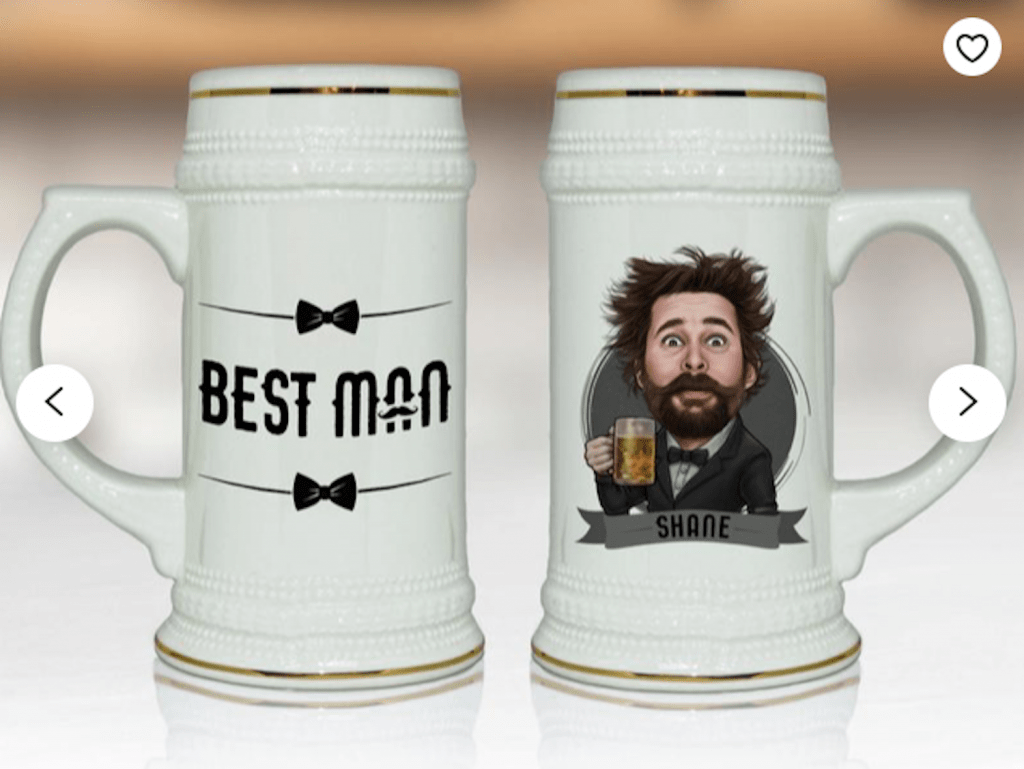 customized beer mug groomsmen proposal idea