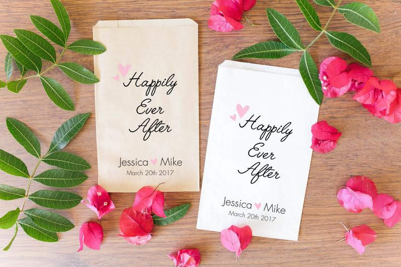 engagement party favor bags