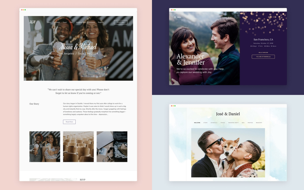 wedding website designs