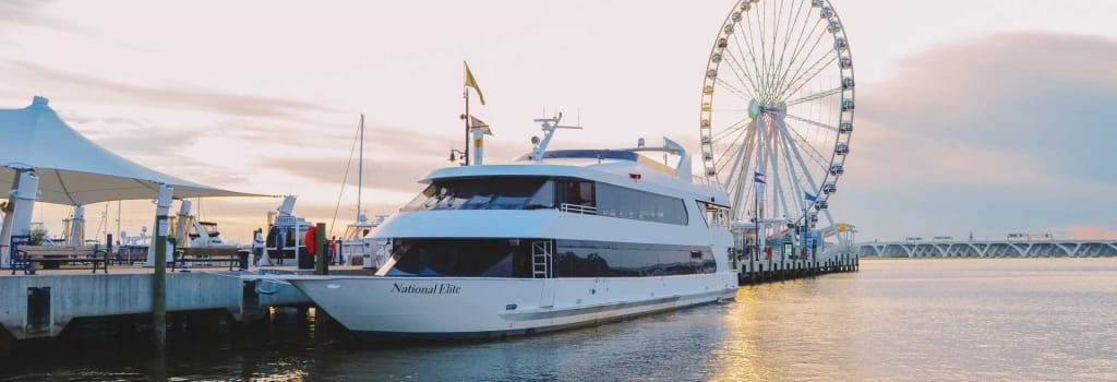national elite private yacht wedding