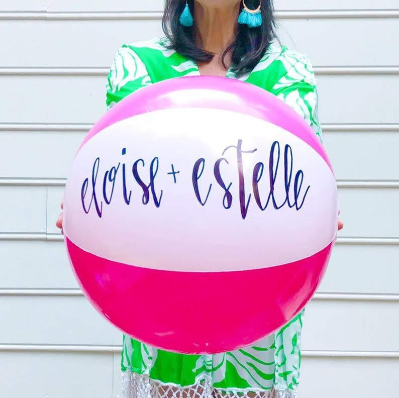 engagement party favor customized beach ball