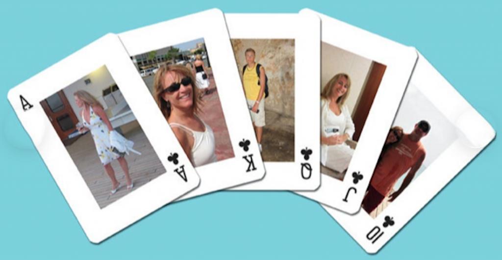 photo album playing cards groomsmen proposal idea
