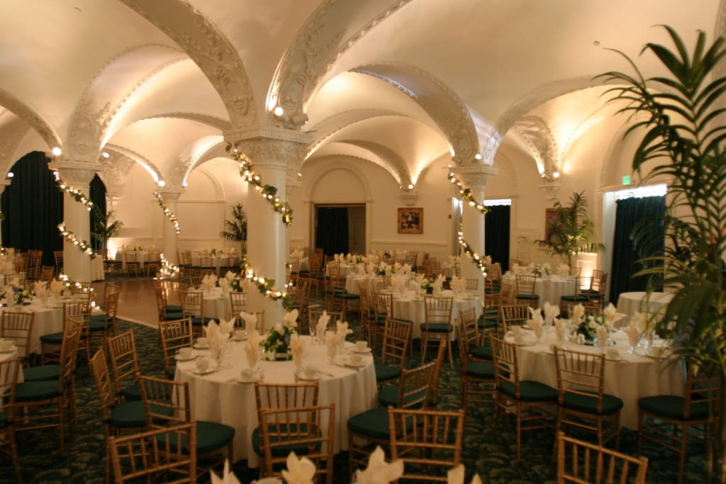 romanesque room pasadena wedding