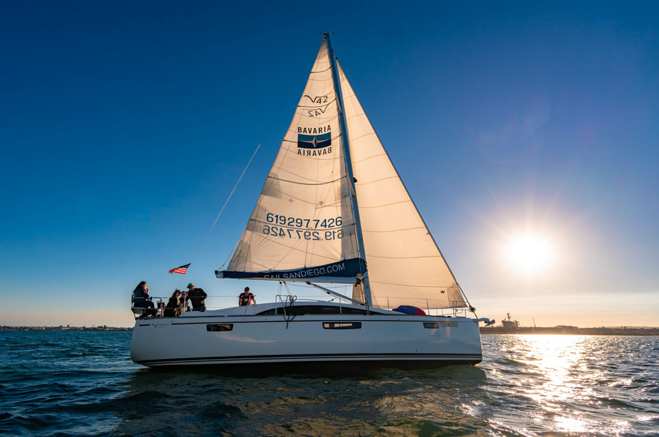 san diego proposal sunset sailboat cruise