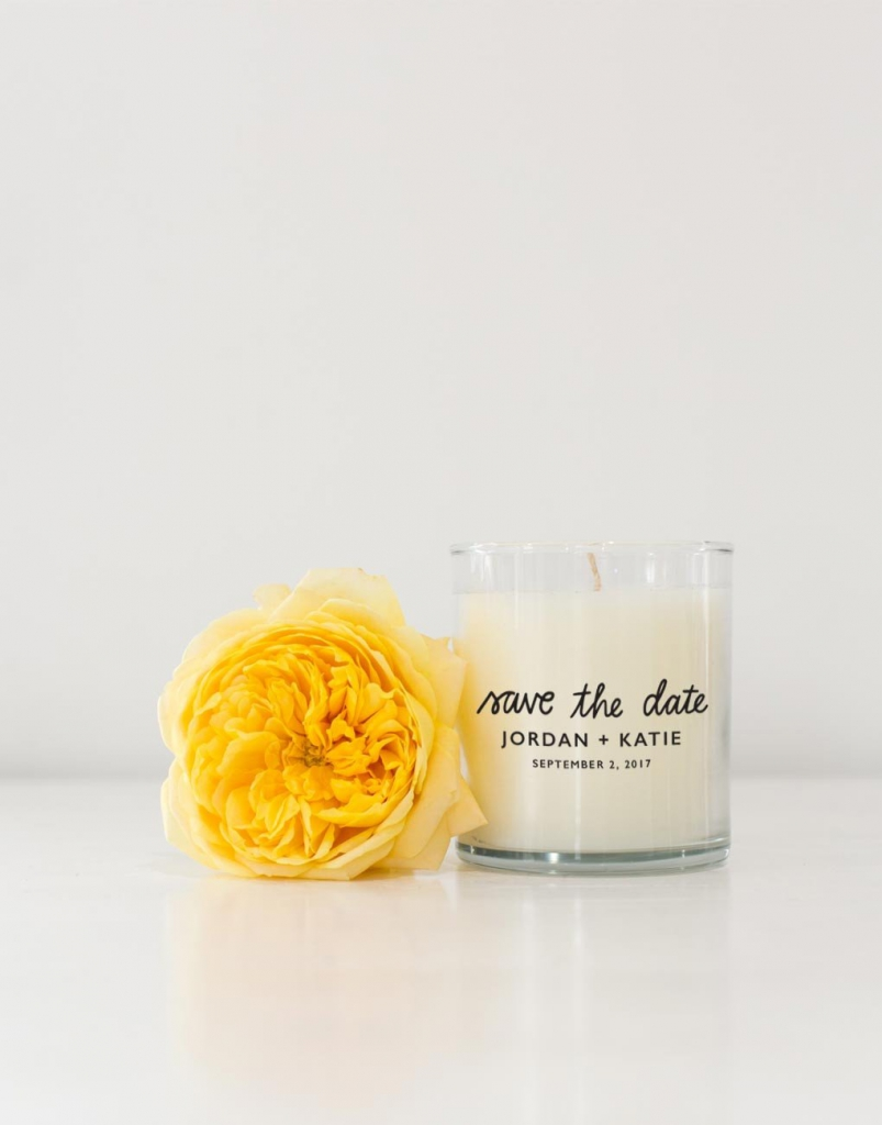 Save the date ideas: Candle