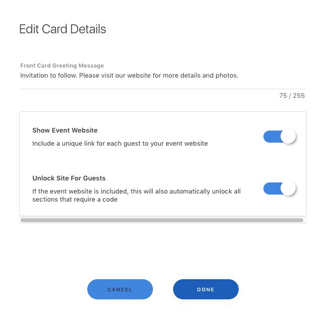 edit e-card details