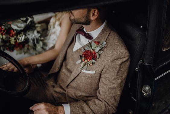 tweed fall groom wedding style