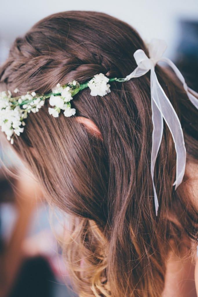 Half-Up Braid With Flower Crown