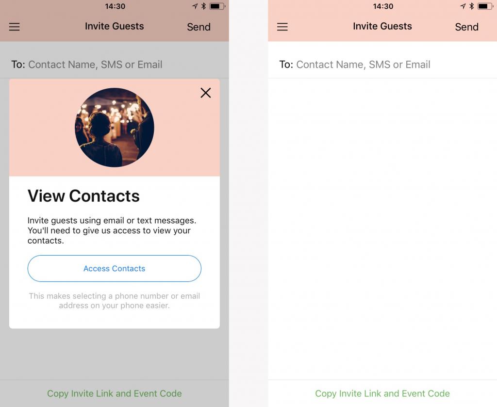 app invite
