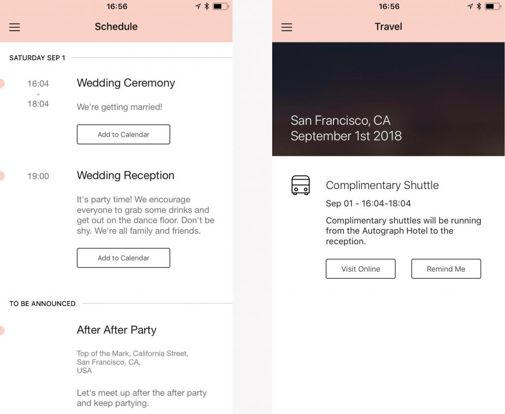 wedding app info