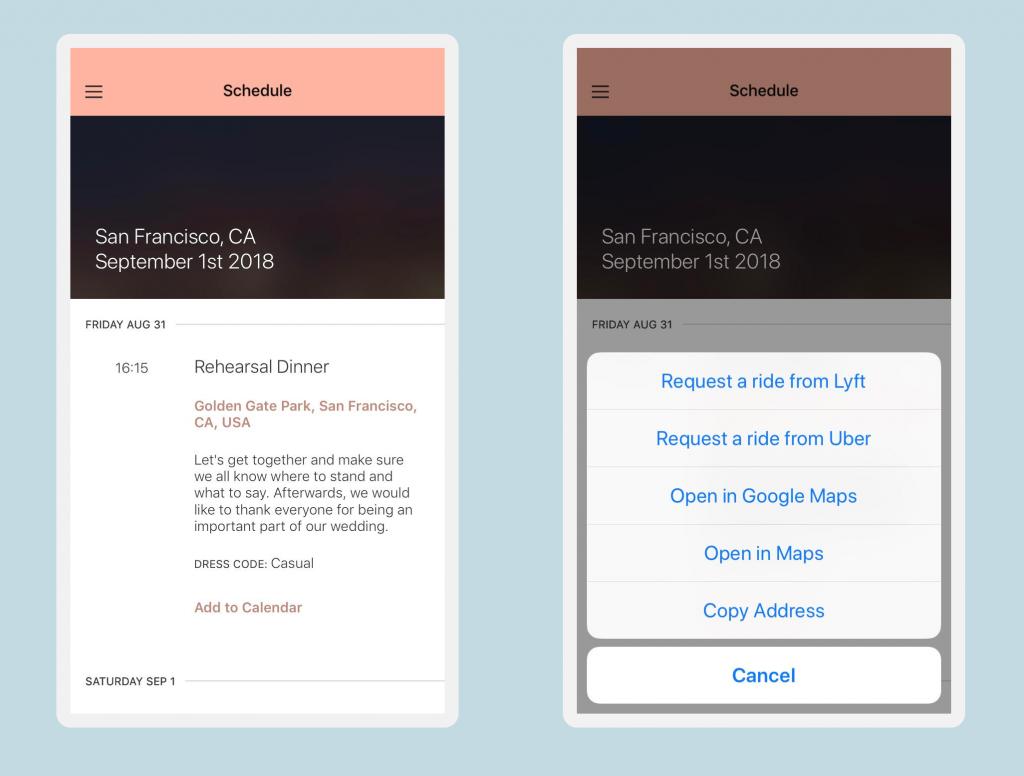 app schedule ride