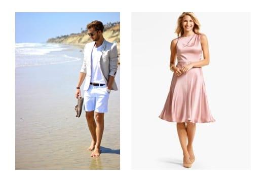 beach formal wedding dress code