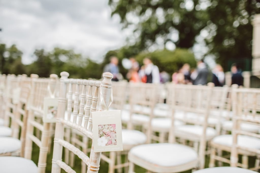 Wedding chairs for outdoor ceremony