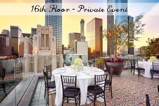 rooftop wedding venues LA perch