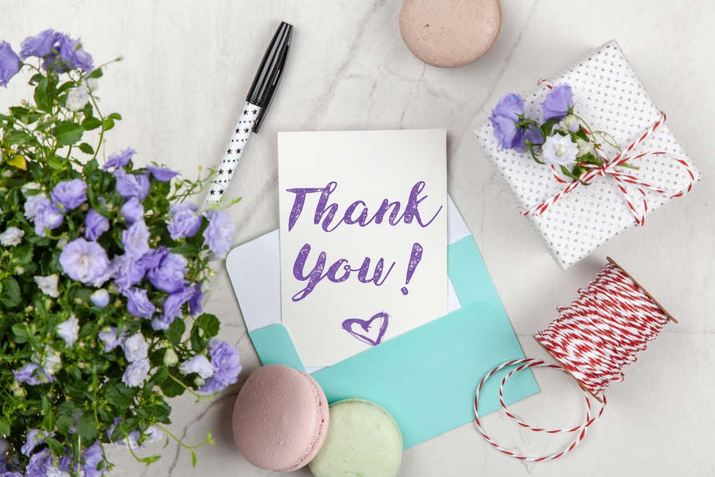 thank you notes with gift