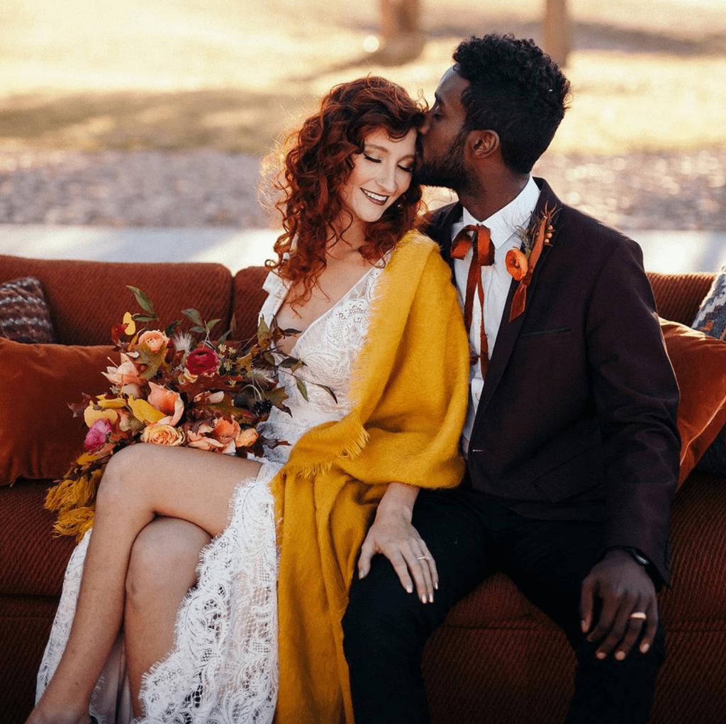 burgundy fall groom style