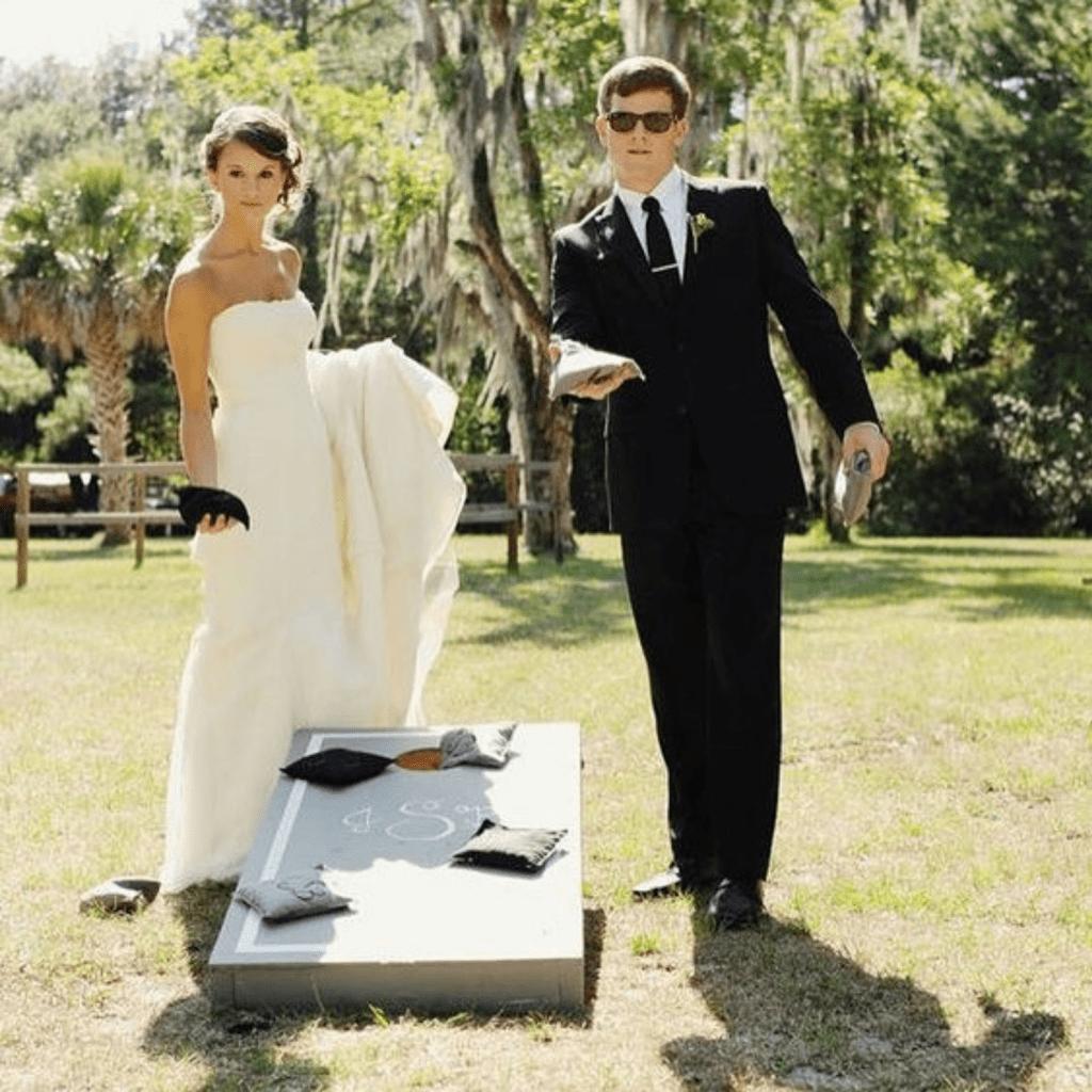 cornhole summer wedding ideas