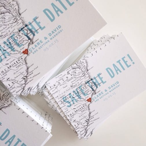 map save the date example