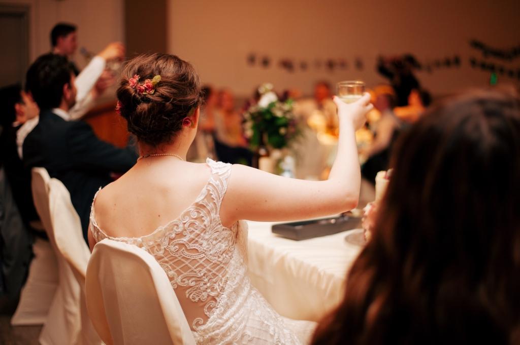 people at wedding reception venue