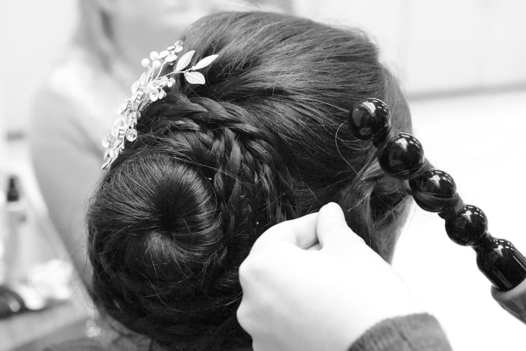 Bridesmaid hairstyles: Pulled-Back Bun With Braid