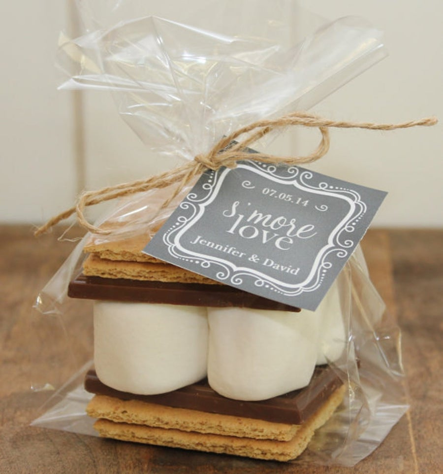 engagement party favor s'mores kits