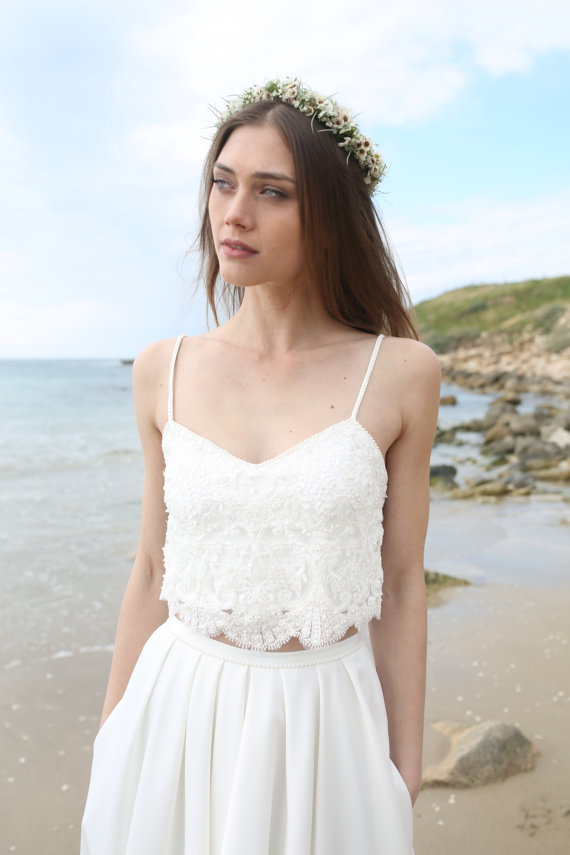 beach wedding dress with pockets