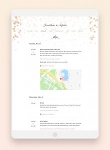 joy wedding website schedule