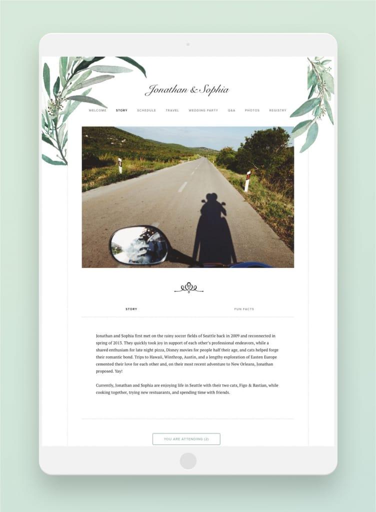 joy website love story