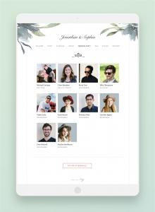 joy website VIP section bridesmaids