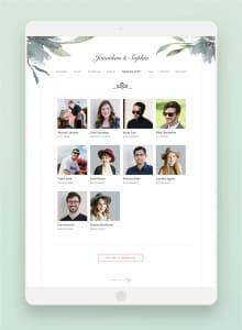 joy website wedding party